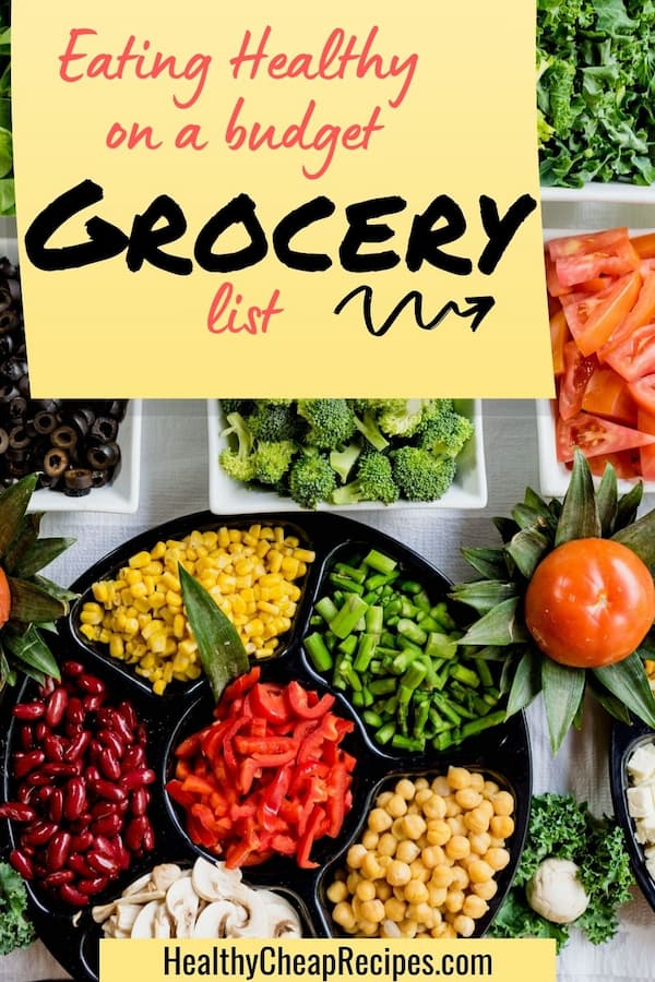 eating healthy on a tight budget grocery list
